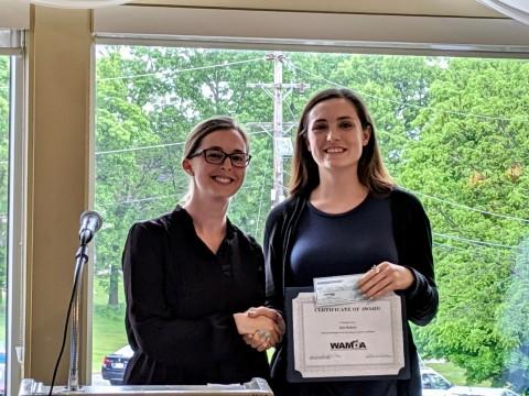 Allison Clark with scholarship winner, Julie Roberts